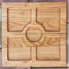 Менажниця квадратна 30 × 30 см (бук, черешня, дуб.)